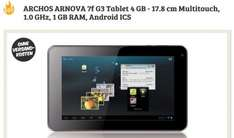 ARCHOS ARNOVA 7f G3 Tablet 4 GB für 44€ @DealClub