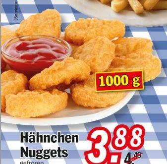 [ZIMMERMANN] Chicken Nuggets 1,0kg für 3,88€ = 0,39€/100g bis 17.01.2015