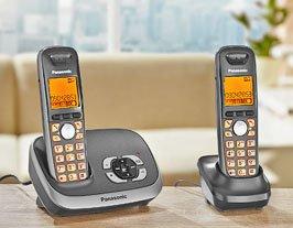 """[lokal Barsinghausen?] Telefon mit AB und zweitem Mobilteil """"Panasonic KX-TG6522 Duo schwarz"""" für 30€ bei Kaufland"""