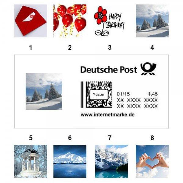 Ebay Briefmarke 1,45 € für 1,25 €