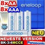 Panasonic Eneloop Akku wirklich neueste Version! 8x Micro AAA: BK-4MCC 2100cycels 800mAh 12,99€