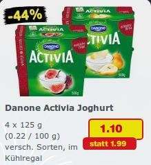Netto MD: Activia 4x 125g für 1,10€