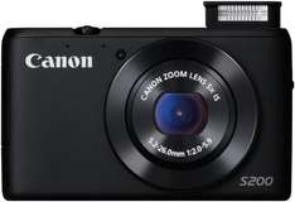 Canon PowerShot S200 Digitalkamera (10,1 Megapixel, 5-fach opt. Zoom, (3 Zoll) LCD-Display, HD, GPS) schwarz für 149€ @Amazon.de