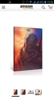 [Amazon] Star Wars BOBA FETT 75x100cm Leinwanddruck