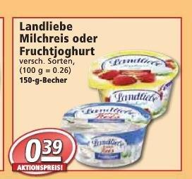 [KW04 Nahkauf und REWE] 2 Becher Landliebe Milchreis mit 2 ct Gewinn [Scondoo]
