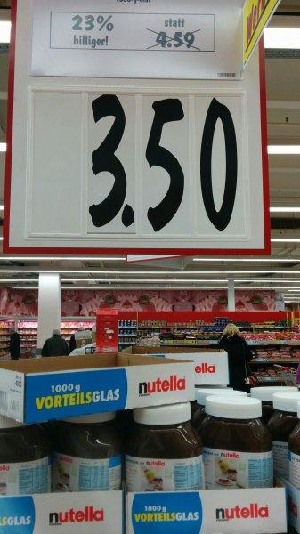 Nutella 1000g bei Kaufland [bundesweit] für 3,50€ statt 4,59€