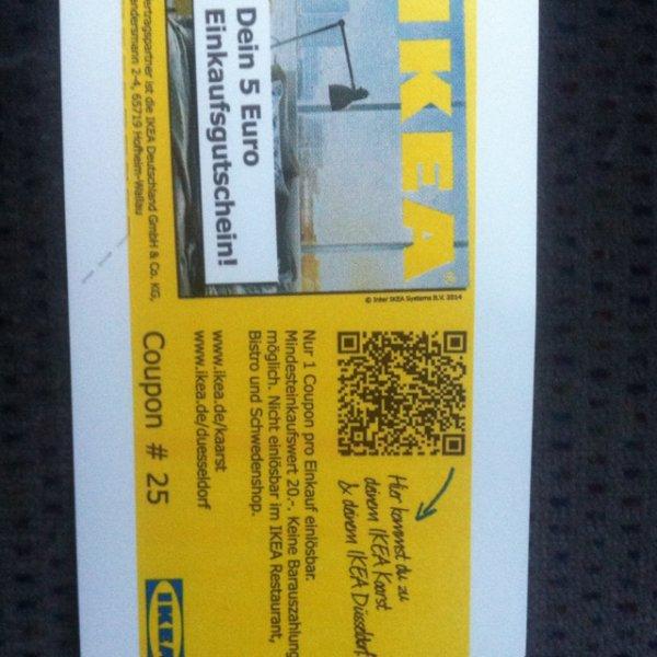 [lokal Neuss] 5€ Ikea Gutschein beim Ziehen eines Parktickets im Rheinparkcenter