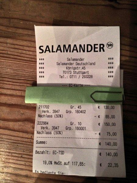 [Lokal Stuttgart] Räumungsverkauf Salamander Rotebühlplatz ca. 50 % reduziert
