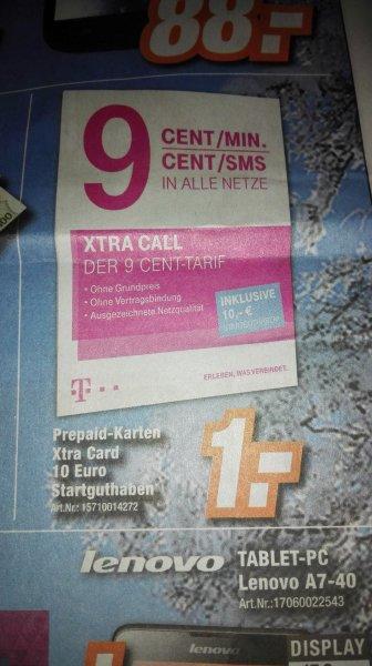 Xtra Card inkl. 10 € Startguthaben (PSN) für 1 Euro lokal Expert Megaland