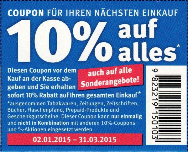 [BUNDESWEIT] GEMYDEALZT! Verschicke kostenlos 10% Rossmann Coupons gültig bis 31.03.2015