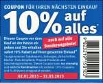 [BUNDESWEIT] ABGELAUFEN - 10% Rossmann Coupons [NOCHMAL 2000x Coupons] gültig bis 31.03.2015