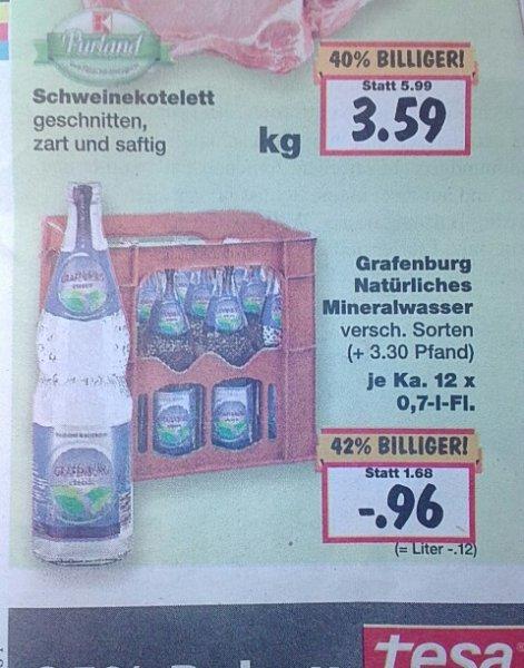 [Kaufland : Dessau-Roßlau] Grafenburger Natürliches Mineralwasser 12 x 0,7L Kasten (bundesweit?)