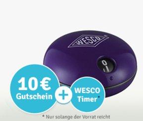 """[WESCO] neuer gratis Artikel bei Neuregistrierung - """"WESCO Timer"""""""