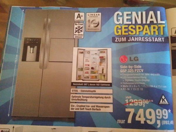 [Offline Bundesweit] LG Side by Side GSP 325 PZCV für 892,49Euro @Metro