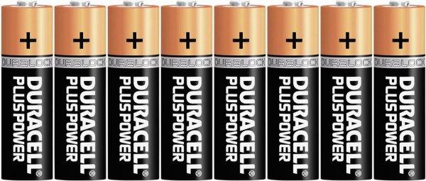 8 Duracell Mignon Batterien