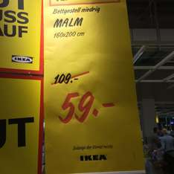 [lokal IKEA Leipzig/Halle] MALM Bettgestell 160x200cm in weiß für 59€ statt 109€