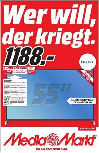 [LOKAL MM BO/CAS] Sony KDL-55W955B // Idealo 1328€