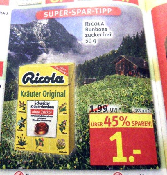 [ROSSMANN] KW3: Ricola zuckerfrei für 0,10€ (Angebot+Scondoo)
