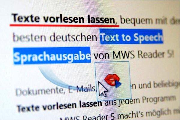 -25%: Einfach zu bedienendes Vorleseprogramm MWS Reader