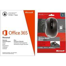 (Ebay-Redcoon) Microsoft Office 365 Personal Bundle + Wireless Mobile Mouse 4000 für 39,99€