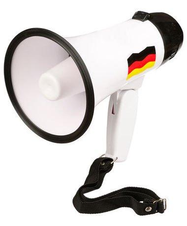Megafon Deutschland - mit Klappgriff - ca. 14 x 14 x 23 cm