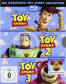 Toy Story 1-3 Bluray für 27,97€ + Versand (3€ oder Plus-Produkt) @ Amazon
