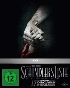 Schindlers Liste - 20th Anniversary Edition [Blu-ray] [Limited Edition] für 9,97 € > [amazon.de] > Prime