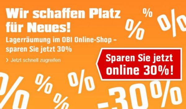OBI Online 30 % Rabatt