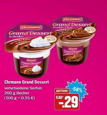 [HIT NRW] Ehrmann Grand Dessert für 0,29€ ab Donnerstag
