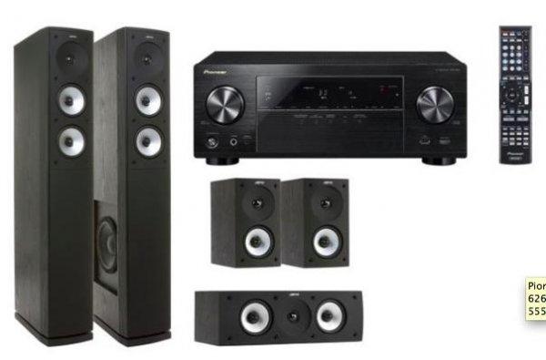 [Redcoon] Pioneer VSX-824-K 5.2 AV-Receiver + Jamo S 626 HCS 3 Heimkinosystem für 555€