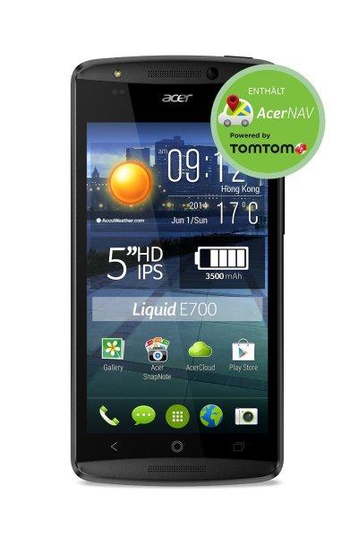 [amazon.de WHD] Acer Liquid E700 Trio Smartphone, Tri-SIM, 1,3GHz, Quad-Core-Prozessor, 2GB RAM, 16GB interner Speicher, 8 Megapixel Kamera, Android 4.4.2 KitKat) schwarz für 148,18 €