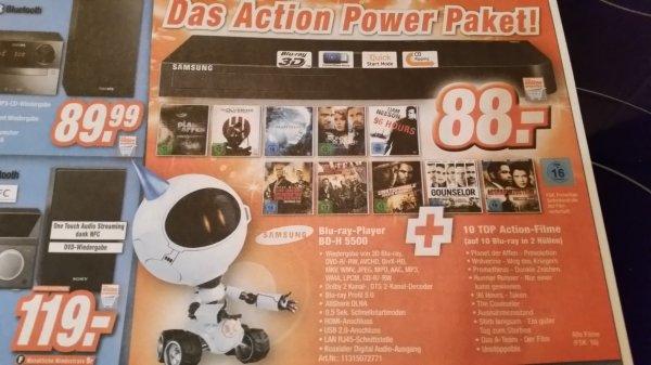 Expert Gevelsberg (bundesweit ?) - Samsung BD-H 5500 3D Blu-Ray-Player + 10 gute Filme