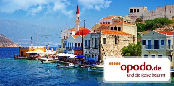 100 € Opodo Gutschein 9,90 € - Urlaubsgutschein anrechenbar auf die Buchung einer Lastminute- oder Pauschalreise