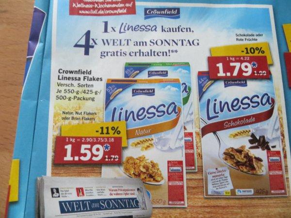 1 x Linessa kaufen - 4 x WELT am SONNTAG gratis erhalten - 1,59 € - Lidl ab 19.1.2015