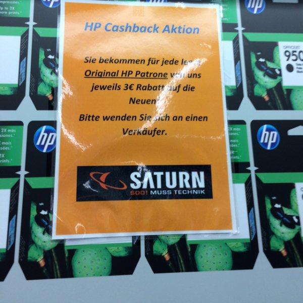 Cashback für HP-Tintenpatronen - auch jeweils auf einzelne Set-Patronen
