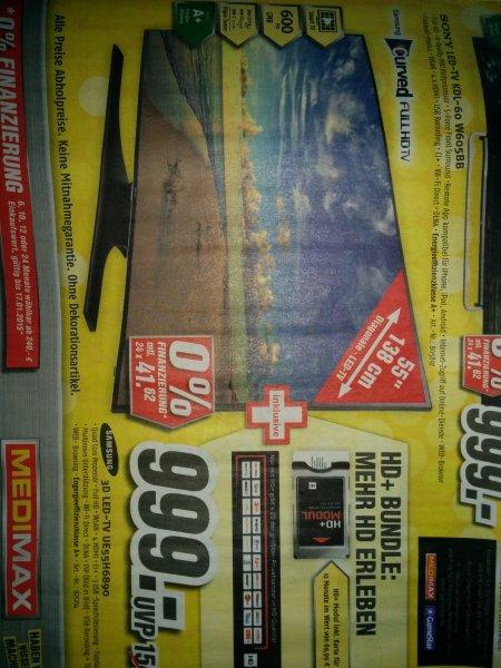 Samsung UE55H6890 inkl. HD plus modul & 12 Monate HD. Lokal Medimax Marl