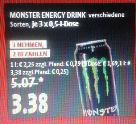 [Kaiser's Tengelmann, Mettmann] Monster Engery Drink 3für2 (bundesweit?)