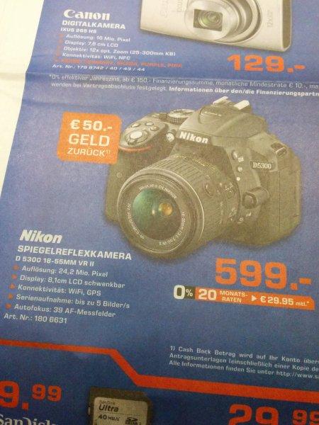 [Saturn] ** Nikon D5300 + 18-55MM VR II + 50€ Cashback **Spiegelreflexkamera