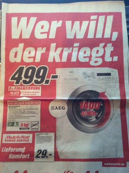 Media Markt Bonn: AEG Waschmaschine Lavamat 73484 VFL nur 514€ mit Versand