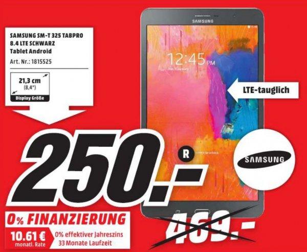 [Lokal MM Porta/Minden] Samsung TabPro 16GB 8.4 LTE - SM-T 325 - FÜR 250€