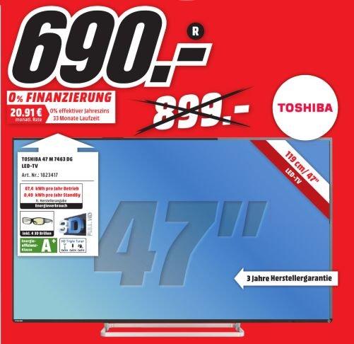 (Lokal/Offline)Toshiba 47M7463DG für 690,-€ im Mediamarkt PortaWestfalica