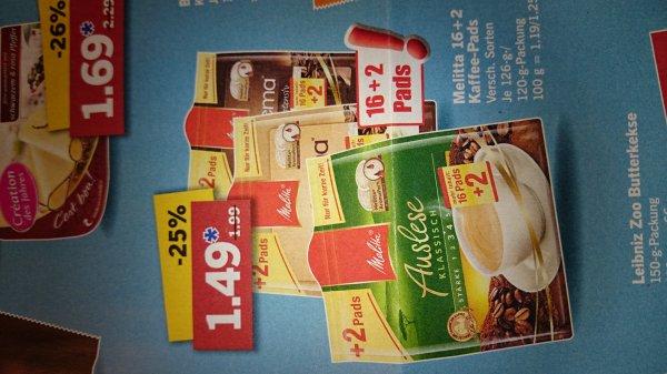 [Lokal Limburg?]Melitta 16+2 Kaffee-Pads bei Lidl 1,49€