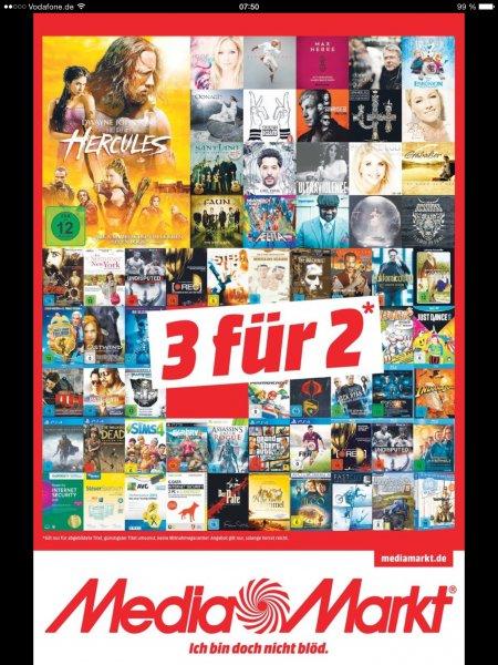 [MM S,LB,MOS,Fellbach,Sinsheim,Schwaben?]3 für 2 (teils augewählte) Games, Software, CDs, Filme