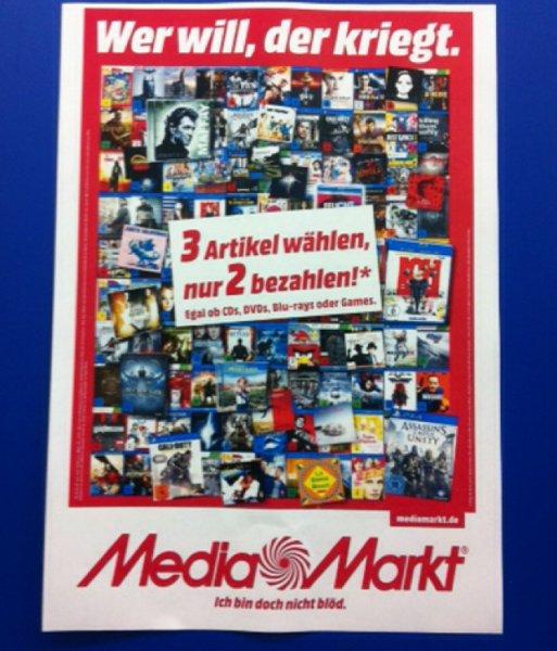 3 für 2 auf alle Games im Media Markt Stuttgart