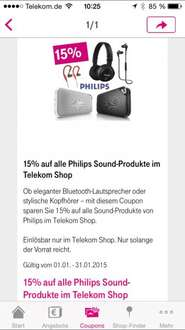15% Rabatt auf Philips Sound-Produkte