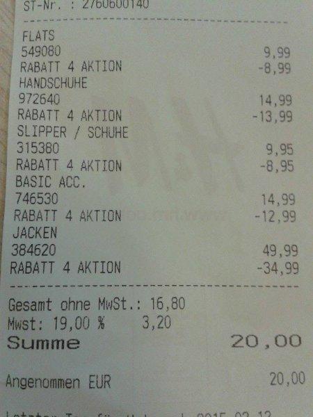 [Bayreuth] H&M offline (evtl bundesweit?) bis zu 90% Rabatt auf einzelne Artikel im Sale