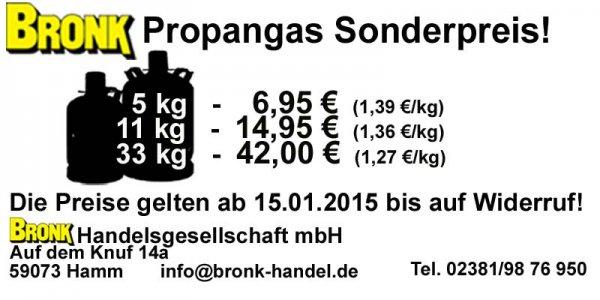 5 kg Propangas für 6,95 € Hamm! Nur lokal!