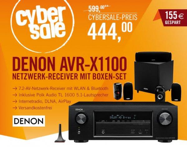 7.2 AV-Receiver Denon AVR-X1100W + 5.1 System für 444€ (statt 625€)
