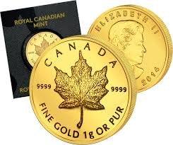 3 x 1 Gramm Gold -- Maple Leaf - Queen Elizabeth II