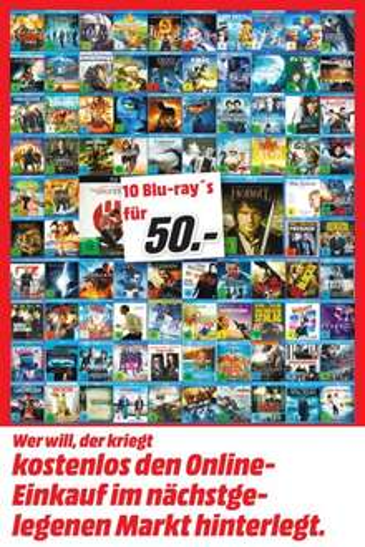 MM Holzminden / 10 BDs für 50 Euro / ab 15.01.2015